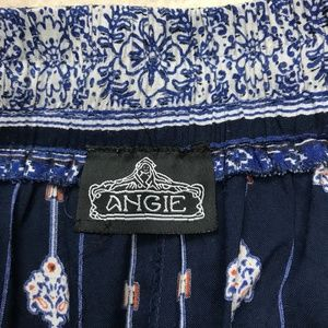 Angie Shorts - Angie Blue & Orange Floral Shorts Size Large